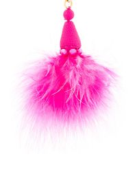 Oscar de la Renta - Pink Maribou Feather Earrings - Lyst