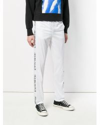 M I S B H V - White Side-slogan Track Trousers for Men - Lyst