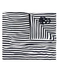 Alexander McQueen - White Striped Scarf With Skull Detail for Men - Lyst