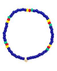 Luis Morais - Blue Mini Skull Beaded Bracelet - Lyst