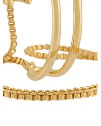 Eddie Borgo - Metallic Cuff Multi-bracelet - Lyst