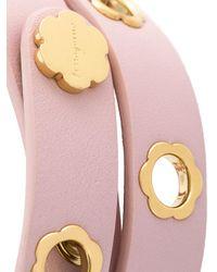Ferragamo - Pink Flower Wrap Bracelet - Lyst