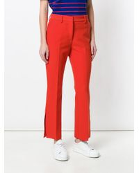 MSGM - Side Slit Tailored Trousers - Lyst