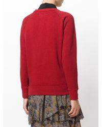 Étoile Isabel Marant - Red Think Slogan Sweatshirt - Lyst