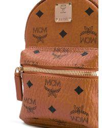 MCM - Brown Baby 'stark' Backpack - Lyst