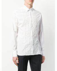 Lanvin - White Ruched Trim Shirt for Men - Lyst