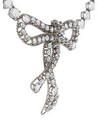 Ermanno Scervino - Metallic Bow Necklace - Lyst