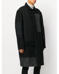 Moohong - Black Patchwork Coat for Men - Lyst