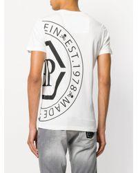 Philipp Plein - White Branded T-shirt for Men - Lyst