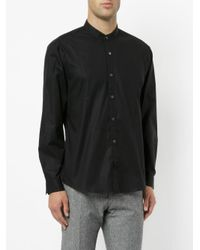 Cerruti 1881 - Black Band Collar Shirt for Men - Lyst
