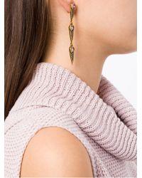 Camila Klein - Metallic Longo Gotas Ouro Earrings - Lyst