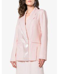 ADEAM - Pink Tailored Panel Jacket - Lyst