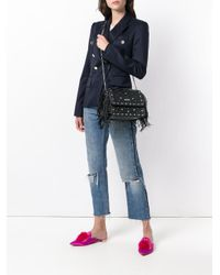 Liu Jo - Black Studded Fringed Shoulder Bag - Lyst