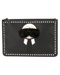 Fendi - Black 'karlito' Clutch for Men - Lyst