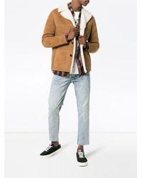 Saint Laurent - Natural Trapper Shearling Jacket for Men - Lyst