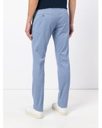 Incotex - Blue Slim Fit Trousers for Men - Lyst