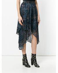 IRO - Blue Draped Skirt - Lyst