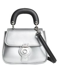 Burberry - Gray Mini Dk88 Top Handle Bag - Lyst