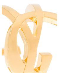 Saint Laurent | Metallic Monogram Cuff | Lyst