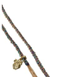 Carolina Bucci - Purple And Blue Intuition Charm Yellow Gold Lucky Bracelet - Lyst