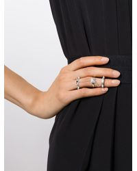 Elise Dray - Metallic Diamond Three-piece 'piccadilly' Ring - Lyst