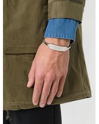 Henson - Metallic Large Carved Id Cuff for Men - Lyst