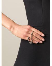 Loree Rodkin - Black Diamond Handcuff Ring - Lyst