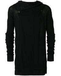 Rick Owens - Black Long Knitted Hoodie for Men - Lyst