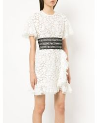 Giambattista Valli - White Lace Mini Dress - Lyst