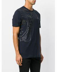 Versace - Blue Studded T-shirt for Men - Lyst