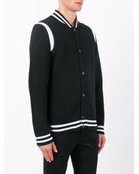 Givenchy - Black Jersey Varsity Jacket for Men - Lyst