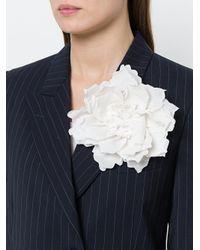 Nude - White Flower Brooch - Lyst