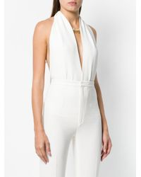 DSquared² White Plunge Bodysuit
