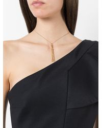 Saint Laurent - Metallic Monogram Mini Tassel Necklace - Lyst