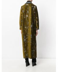 Forte Forte - Green Embroidered Draped Coat - Lyst