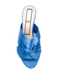 N°21 - Blue Twisted Bow Sandals - Lyst