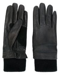 AMI - Black Leather Gloves for Men - Lyst