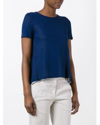 Dondup - Blue Flared T-shirt - Lyst