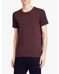 Burberry - Red Logo Print T-shirt for Men - Lyst