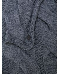 Polo Ralph Lauren - Gray Cable Knit Scarf - Lyst