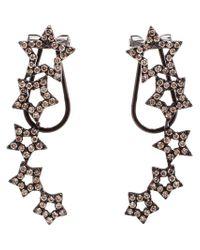 Rosa De La Cruz - Black Diamond Star Earrings - Lyst