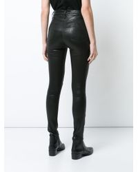 Rag & Bone - Black Leather Jeans - Lyst