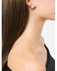 Givenchy - White Marble Charm Magnetic Earring - Lyst
