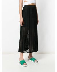 Mrz - Black Long Pleated Skirt - Lyst