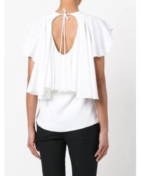 Antonio Berardi - White Ruffled Blouse - Lyst
