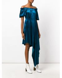 Preen By Thornton Bregazzi - Blue Velvet Courtney Dress - Lyst