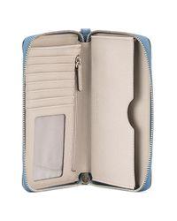 MICHAEL Michael Kors | Blue Jet Set Travel Wallet | Lyst