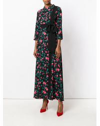 Vivetta - Black Floral Bow Detail Dress - Lyst