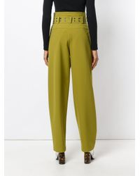 Emilio Pucci - Green High-waisted Wide-legged Trousers - Lyst