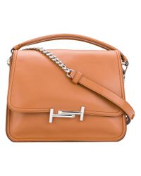 Tod's | Brown Double T Tote | Lyst